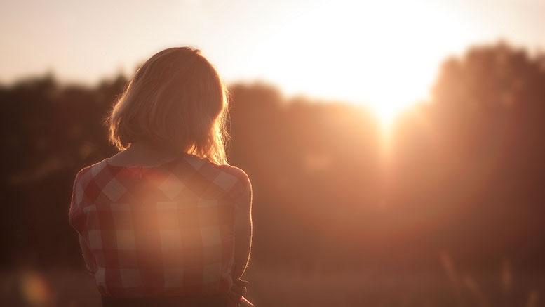 dawn nature sunset woman