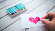 love heart hand romantic